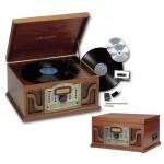 Tocadiscos Cl�sico retro Lauson CL123 - Cd - MP3 -Cassette-Radio-USB