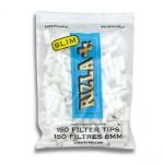 Filtros para cigarrillos RIZLA Slim 6 mm - 150 filtros x 25 bolsas