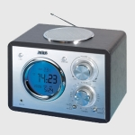 Radio Despertador Reloj AEG MR 4104  Negro - Temperatura