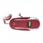 Telefono Brondi Kenovy Cid - Rojo - El telefono Brondi Kenovy Cid color rojo de Brondi dispone en el auricular de ventana para la visibilidad de display. En modo de espera indica la fecha y hora en display LCD. Identificador de llamada entrante. Inserciones de goma de colores. Puede también ser montado en la pared. Últimos 38 llamadas entrantes enumeradas. Repetición del último número. Tecla de pausa y flash: para que sea fácil de usar en la oficina. Dimensiones: 84x64x210 mm.