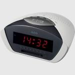 Radio reloj Despertador AEG MRC4116 blanco - Reloj Radio FM. Elección alarma: radio o despertador. Pantalla LED de 24 horas. Interruptor selector de función (ON/OFF/AUTO). Control de volúmen y de frecuencia.