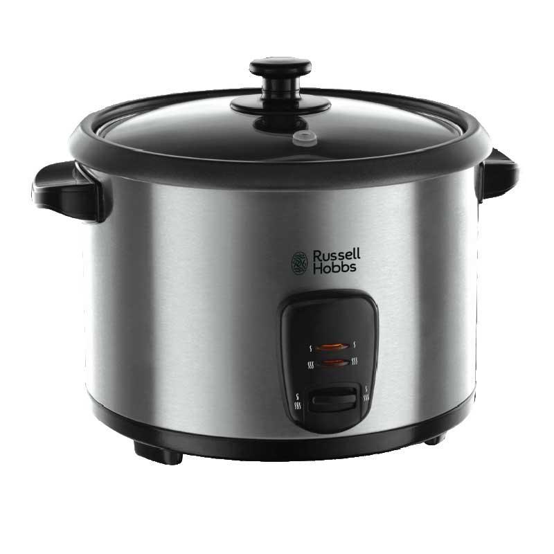 Arrocera cocedor a vapor Rusell Hobbs Cook@Home 19750-56 - Inox - Arrocera cocedor a vapor Rusell Hobbs Cook@Home 19750-56 - Inoxidable. – Capacidad: 1,8L - 10 tazas -. – Incluye bandeja para cocinar al vapor. – Cocina y mantiene caliente. – Incluye: espátula y vaso medidor. – Indicador luminoso de encendido. – Cubeta anti-adherente extraíble. – Tapa de vidrio para controlar la cocción. – Carcasa de acero inoxidable cepillado. – Potencia: 700 W.