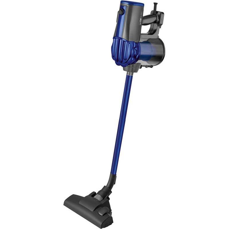 Aspirador escoba sin bolsa Clatronic BS1306 - azul - Aspirador escoba sin bolsa ciclónico de uso vertical y de mano con clasificación energética A. Se convierte rápidamente en un aspirador de mano para realizar limpiezas rápidas, en rincones y en lugares de difícil acceso. Potente motor de 600W. Tecnología Eco-Cyclon. Tecnología de filtro sin bolsa. Sistema multifiltro. Incluye filtro HEPA. Depósito de recogida extraíble de gran capacidad con sistema de apertura rápido que evita entrar en contacto con la suciedad cuando se vacía. Incluye dos tubos de aluminio de diferentes medidas para ajustar la longitud deseada entre 35 cm y 75 cm. Gran radio de acción de aproximadamente 6,5 metros. Soporte de pared para ahorrar espacio. Incluye los siguientes accesorios: Cepillo de suelo combinado para suelos duros y delicados, Accesorio cepillo multifunción, Accesorio de rinconera, 2 x Tubos de aluminio de diferentes medidas para ajustar la longitud deseada - Voltaje: 230v, 50hz. - Potencia: 600w. +( NO Envío Contra-reembolso ).