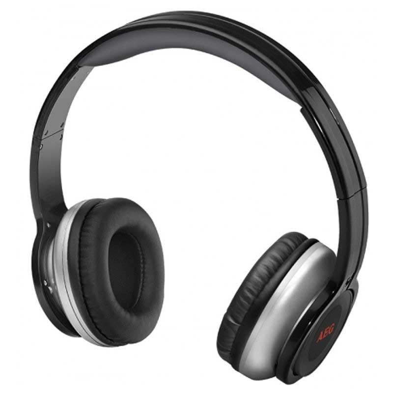 Auriculares AEG KH4230 - Negro -  Bluetooth A2DP - Te cautivarán por su diseño y te convencerán por su sonido. Poseen unas características que te permitirán disfrutar de tu música en cualquier parte con un estilo genuino. Vinculalos de forma inalámbrica con tu smartphone, tablet, smart tv a través de Bluetooth y escucha tus canciones preferidas sin cables. Auriculares estéreo con Bluetooth - A2DP - para la transmisión inalámbrica de música - audio, por ejemplo, desde su teléfono inteligente, tablet PC o consola de juegos, proporcionando una experiencia de sonido sin limitación de movimiento. Los auriculares incorporan un micrófono para usarlo como manos libres, a través de la conexión Bluetooth. Control de volumen a través de los auriculares. Incluye cable USB, para la carga del auricular. Almohadillas de cuero de alta calidad. Duración de la batería 8 horas. Funcionamiento hasta 10 m. Batería de polímero de litio: 400 mA; 3,7 V.