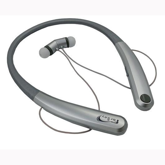 Auricular Neckband con micrófono Fersay - Bluetooth - Imantado - Auricular Neckband con micrófono y características que te permitirán disfrutar de tu música en cualquier parte. Vinculalos de forma inalámbrica para recibir y transmitir información de audio sin cabes con tu smartphone, tablet, smart tv a través de Bluetooth para que escuches tus canciones preferidas. Auriculares estéreo con Bluetooth para la transmisión inalámbrica de música - audio, por ejemplo, desde su teléfono inteligente, tablet PC o consola de juegos, proporcionando una experiencia de sonido sin limitación de movimiento. Los auriculares incorporan un micrófono para usarlo como manos libres, a través de la conexión Bluetooth. Control completo con selección de canción y regulador de volumen a través de los auriculares. Llamadas con manos libres y contestación de llamada entrante con sólo un botón, la música se detiene hasta que finaliza la llamada. Puerto micro USB, para la carga del auricular. Batería de larga duración de >300 horas en espera. Funcionamiento hasta 8 metros. Batería de polímero de litio: 170 mA; 3,7 V. + Especificaciones técnicas: - Incluye micrófono para mantener conversación. - Funcionamiento: micro USB 5V. - Cobertura: 8 metros. - Bluetooth: 2,4-2,48 GHz. - Repuesta en frecuencia: 20 Hz - 20 KHz. - Distorsión factor: 95%. - Altavoz: 16 ohmios, 2x20 mW. - Potencia de salida: 2x15 mW. - Tiempo de funcionamiento: 8 h. música / 9 h. conversación. - Tiempo en espera: >300 h. - Tiempo de carga: 1,5 horas. - Batería recargable: 3,7V / 170 mAh. - Consumo: 15-20 mA. - Temperatura de trabajo: -10ºC / +60ºC. - GARANTÍA: 2 Años.