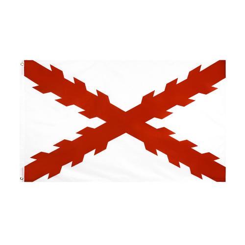 Bandera decorativa Tercios españoles - Imperio español - Cruz Borgoña  - 150 x 90 cm.