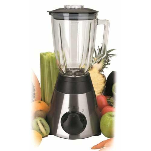 Batidora de vaso de cristal Lacor 69081 - Batidoras eléctricas con jarra de cristal de 1,5 litros de la marca Lacor con acabado en acero inoxidable 18-10 y con 500w de potencia. Con esta económica batidora de vaso podrá picar hielo y batir todo tipo de frutas y verduras. Vaso graduado de cristal con capacidad de 1,5 litros. - Velocidad: 10000-12000 rpm. - Capacidad: 1,5 Litros. - Peso: 5 Kg. - Tamaño Total: 25x22,5x44,5 cm. - Alimentación eléctrica: 220-240v, 50-60hz. - Potencia: 500w. - Ver Detalles -