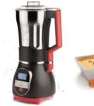 Batidora vaso de sopa Lacor 69380 - 1,7 litros - La nueva batidora de vaso para sopas de Lacor profesional es un robot de cocina para elaborar sopas caseras, purés, cremas, salsas, zumos, etc. Esta batidora posee una placa antiadherente perfecta para saltear los ingredientes, cocinar a fuego lento e incluso hervir sopas. Tiene un una capacidad de 1,7 litros y un motor de 450w y hasta 900w de potencia de calentamiento. Solo con pulsar el botón se mezcla todo hasta obtener la consistencia deseada. También podrá picar hielo en menos de 50 segundos y mezclar batidos y cócteles congelados. Sus 4 velocidades, sistema desmontable y ser apta para lavavajillas hacen de esta batidora una joya para su cocina, bar, restaurante, etc. - Medidas: 25x21x45 cm. - Capacidad: 1,7 litros. - Peso: 2,4 kg. - Potencia: 450w. + Ver Detalles -