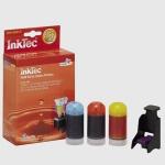Kit recarga de cartuchos tinta color Canon CL-41 / CL-51 - 20 ml. x 3 - Kit Recarga Inktec BKI-9041C de tinta CL-41 / CL-51 para usar en las Impresoras Multifunción Canon: PIXMA iP1200 IP1300 IP1600 IP1700 IP2200, PIXMA MP150 MP160 MP170 MP180 MP450 MP460. Contenido: Tres botellas de 20ml de tinta, 1 por color: cian, magenta y amarillo, equivalente a 4 ó 6 RELLENADOS. Tres juegos de herramientas completos para realizar la recarga de los 3 cartuchos color. Manual de instrucciones en varios idiomas. - Ver VIDEO Demostrativo -.