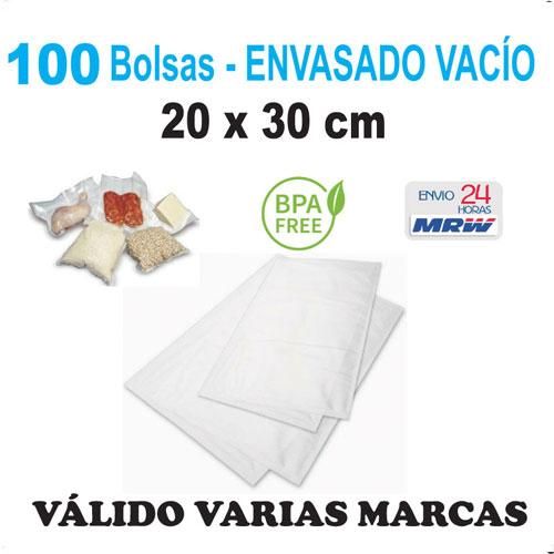Bolsa gofrada envasadora vacío 20x30 cm - 100 bolsas - Varias Marcas