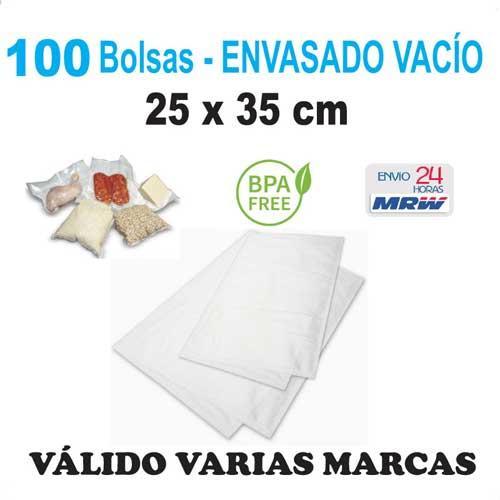 Bolsa gofrada envasadora vacío 25x35 cm - 100 bolsas - Varias Marcas
