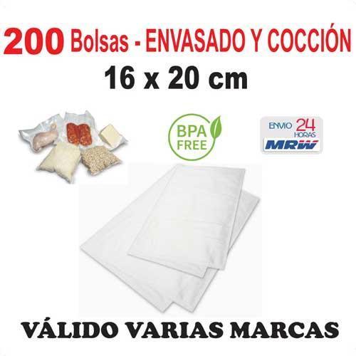 Bolsa cocción y envasadora vacío 16x20 cm - 200 bolsas - Varias Marcas