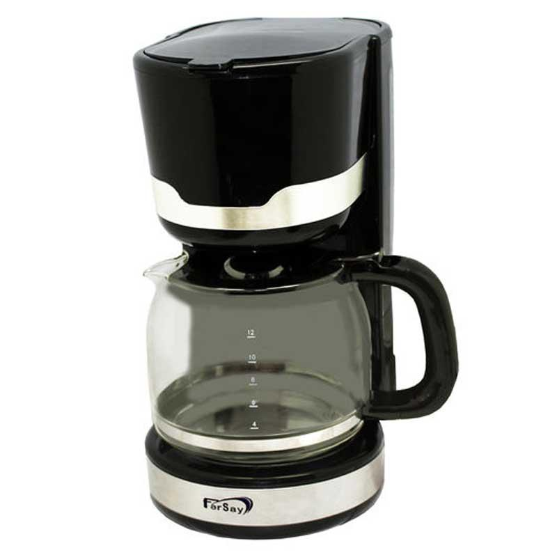Cafetera de goteo Fersay CAFG2040 - 12 Tazas - 1,5 Litros - La cafetera de goteo de Fersay permite disfrutar de hasta 12 tazas de café y tómarlo en los 40 minutos sucesivos como si estuviera recién hecho, ya que consigue mantener su café caliente, y pasados estos minutos la cafetera se apaga automáticamente. Con un tamaño compacto y cumpliendo con la normativa de ahorro energético europea. Soporte de filtro suspendido. Filtro permanente. Jarra de cristal de 1,5 litros con tapa y dosificador. Sistema anti-goteo, su válvula no permite que se pierda ninguna gota de café. Placa calorífica anti-adherente. Depósito de agua translúcido, graduado y con dosificador. Interruptor luminoso de funcionamiento. Inserciones en acero inoxidable. Fácil de desmontar para poder conseguir una máxima limpieza. - Capacidad Jarra: 1,5 Litros - 12 tazas -. - Válvula anti-goteo. - Voltaje AC: 220-230 V, 50-60 Hz. - Potencia: 1000 W. - Color: Negro-acero. + Garantía : 2 Años.