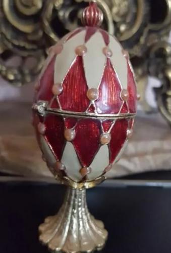 Caja Joyero Vintage Huevo lacado