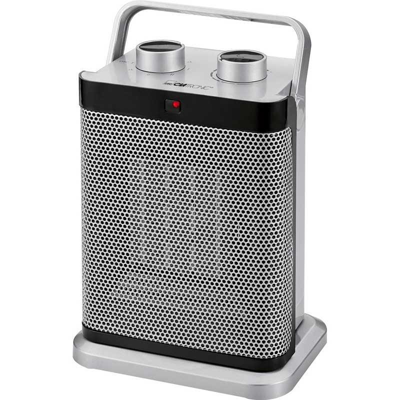 Calefactor cerámico oscilante Clatronic HL3631 - Calefactores cerámicos PTC para una calefacción saludable, segura, silenciosa, eficiente y con baja acumulación de polvo. Calentador de ambiente rápido y efectivo con termostato regulable de forma continua y 2 posiciones de ajuste del calor 1000w y 1500w e interruptor de 7 niveles. Ajuste de frío - ventilador -. Oscilante - se puede desactivar -. Interruptor de seguridad para protección contra incendios y protección contra el sobrecalentamiento. Asa de transporte robusta y plegable. Soporte estable. Calefactor robusto y duradero con una larga vida útil. - Dimensiones: 14,1x19,1x26,7 cm. - Peso: 8 Kg. - Color: plata. - Voltaje AC: 220-240v, 50hz, 1500w.