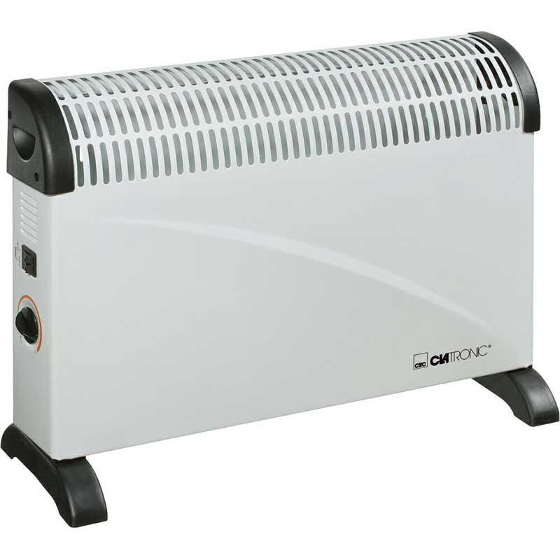 Calefactor silencioso Convector Clatronic KH3077 - 2000w - Calefactor calentador de ambiente Clatronic KH 3077 con termostato regulable y 3 niveles de temperatura 750 - 1250 - 2000 W. Funcionamiento silencioso. Indicador luminoso. Sistema de seguridad para la protección contra incendio. Control automático de la temperatura. Asas de transporte. Posibilidad de instalar en la pared - accesorios incluidos -. - Material: metal. - Dimensiones: 63x44x14 cm. - Peso: 3,6 Kg. - Color: blanco. - Voltaje AC: 220-240v, 50hz, 2200w.