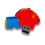 Pendrive original camiseta selección española fútbol - 8 Gb- Memoria USB - Pendrive original camiseta selección española fútbol - 8 Gb- Memoria USB para Sistemas Operativos WIN98/SE/NE/2000/XP/VISTA/MAC OS 8.6 ó superior/Unix/LINUX.. Soporta software de cifrado, no tiene partes mecánicas, libre de interferencias electromagnéticas, retención mínima de datos 10 años. Veloc. lect/Esc: 12 Mb/s / 11 Mb/s  USB 2.0. Acabado de Goma. Peso: 19 gr. Dimensiones: 50x43x13. Garantía 2 años