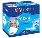 CD -R Verbatim 700 Mb / 80 Minutos ( Caja 10 Unidades ) - Pack 10 CD Verbatim 700 MB / 80 min. con caja. Imprimible.