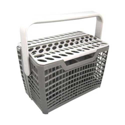 Cesto cubiertos para lavavajillas - Universal - Cesta de cubiertos universal para lavavajillas Electrolux. Cesto diseñado para ahorrar espacio, con compartimentos modulares para mantener los cubiertos separados para una mejor limpieza. Asa abatible. + Características: - Cestillo apto para lavavajillas de 45 cm o 60 cm. - Soporte abatible para cubiertos. - Dimensiones cesta ( profundidad-ancho-alto ): 23,5 x 13,5 x 15,5 cm. - Material: plástico. - Color: gris. + Nota: Imagen orientativa, puede variar a criterio del Fabricante.