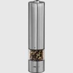 Pimentero de acero con luz Clatonic PSM 3004 N - Bomann PSM 437 N - Pimentero manual de acero inoxidable. Fácil de llenar. Regulación del molinillo de grueso a fino. Incluye luz para la dosificación optima de los condimentos.+( NO Envío Contra-reembolso ). - Medidas: 13x13,5x13 cm. - Voltaje: 1,5v. - Color: Plata.+( NO Envío Contra-reembolso ).