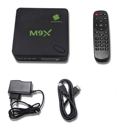 Convertidor de TV a Smart TV para Android e IOS - Wifi - 8 GB - Convertidor M9X de sobremesa de TV a Smart TV vía Wifi para Android e IOS. Versión: 6.0.1, Bluetooth. Pensado para convertir tu televisión en una Smart TV de última generación. Su sistema operativo es Android 6, que ofrece una estabilidad inigualable. Dispondrás de un sinfín de posibilidades, navegar en Internet y televisión a la carta. Incluye mando a distancia con función puntero / mouse. Descubre la nueva forma de disfrutar de la TV !. - CPU: 64 bit, Amlogic S905X Quad Core up to 2.0 GHz ( Cortex-A53, ARMv8-A ). - Capacidad de almacenaje: 8 Gb + MicroSD. - Memoria DDR3 2 Gb + 8 Gb Flash. - WIFI: support IEEE802.11 b/g/n. - Ethernet: Ethernet 10 Base-T / 100 Base-TX-RJ-45. - SO: Google Android 6.0.1. - I/O: HDMI 2.0, 2 USB 2.0, 1 RJ-45, Ranura tarjeta micro SD. - Lee Formatos: Dlna, Airplay, Miracast, S805. APP Kodi. - Video Decoding: 4K, 2K, VP9, 1080p, HD MPEG1/2/4, H.265, HD AVC/VC-1. - APP´s: Netflix, Twitter, Hulu... - Soporta Skype ( cámara y micrófono ). - Peso: 0,2 Kg. - Dimensiones: 10x3x10 cm. - Voltaje: DC IN 5 V - 2 A. - Contenido del producto: Convertidor TV a Smart TV, Mando, Fuente de Alimentación 5V/2A, Cable HDMI, Cable AV, Manual. + Garantía: 2 Años.
