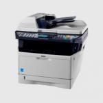 Multifunción Laser b/n KYOCERA FS-1128MFP - Copiadora, Impresora, escaner color y fax en una multifunción profesional y compacta. Velocidad: 28 pág./min. A4.  Funcion Duplex (doble cara) de serie. Incluye Alimentador de 50 originales (RADF) a doble cara  DP-110 .  Interfaz: Fast Ethernet 10/100 Base y USB 2.0. Componentes de larga duración reducen costes de impresion y su RADF aumentan su productividad. Toner incluido para 7200 copias/impres. Volumen de trabajo máximo: 20.000 cop./imp. mes. Coste de impresión inferior a :  0,01 Euros.