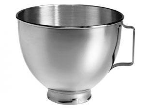 Bol acero Kitchenaid 5K5THSBP - solo para Artisan y Classic - Bowl de acero inoxidable, accesorio para ser utilizado en Robots de cocina Kitchenaid Artisan y Classic, perfecto si estás elaborando alguna receta que requiere varios tipos de masas o mezclados, no tendrás que lavar el bol continuamente, resultando más práctico a la hora de preparar la receta. Características: - Bol standar con capacidad para 4,83 litros. - Construcción de acero inoxidable pulido - para todos los colores -. - Con asa y soportes fijación. - Accesorio válido para Kitchenaid 5ksm150, 5ksm125, 5ksm175ps - serie Artisan - y k45ss - Classic -. - Duradero y de fácil limpieza. - Apto para el lavavajillas. - Referencia anterior: K5THSBP -