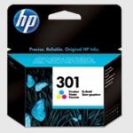 Cartucho Inyección Tinta Color HP 301 - Cartucho Tinta Color HP301. Tinta para impresoras: HP Deskjet 1050 / 2050 / 2050s ...