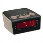 Radio reloj Despertador Clipsonic AR314G - Fm - Reloj despertador PLL FM, pantalla LED con búsqueda automática de frecuencias y pantalla digital, 10 emisoras pre-ajustadas FM, alarma dual, alarma con radio o zumbador, función de reposo y descanso. Batería de respaldo - no incluida -. - Medidas: 11x9,5x5 cm. - Peso bruto: 0,22 kg. - Alimentación AC: 220-230v, 50-60hz.