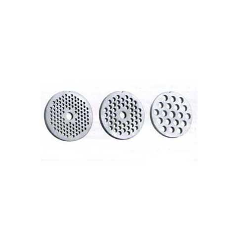 Disco perforado repuesto para Picadora Clatronic FW3506 - Bomann FW447 - Discos perforados de repuesto para la picadora de carne Clatronic FW3506 - Bomann FW447. Este recambio es compatible para las siguientes picadoras de carne de otras marcas: Proficook FW1060, Domoclip DOM267. + Características: - Medidas discos perforados : 8, 5 y 3 mm diámetro. - Duradero, y de fácil limpieza. - Material: Acero inoxidable. - Color: inox. - Certificación alimentaria europea: RGS 3901841/SS. + Nota: Seleccionar medida diámetro perforación.
