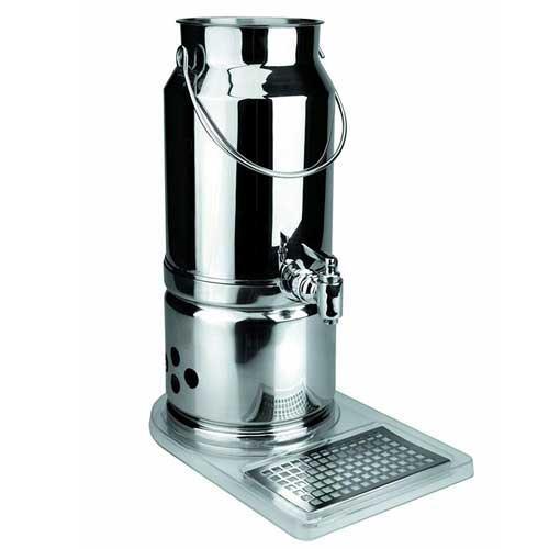 Dispensador de leche con base Lacor 69030 - 5,5 litros - El dispensador de leche con base de Lacor dispone de sistema de calentamiento y sistema de refrigeración para mantener la leche siempre a temperatura apropiada a cada estación o gusto. Estos dispensadores están fabricados en acero inoxidable 18-10 que le aporta robustez y resistencia. Con bandeja para goteo que facilita su limpieza. Ideal para buffet, restaurantes, comedores, etc., ya que su contenedor puede contener hasta 5,5 litros de leche. Características técnicas: - Medidas: 22x33x44 cm. - Capacidad: 5,5 litros. +( NO Envío Contra-reembolso ). - ( ENVÍO GRATIS )