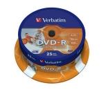 Dvd -R  Verbatim 4,7 GB / 120 Minutos - 16X ( Tarrina 25 Unid.) - Tarrina 25 Dvd -R  Verbatim 4,7 GB / 120 Minutos - 16X. Avanced Azo.
