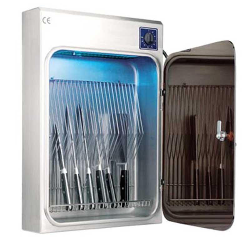 Armario esterilizador cuchillos con ozono Lacor 39012 - 10 cuchillos - Armario esterilizador con ozono para 10 cuchillos de la marca Lacor, para uso profesional. - Reloj: 120 minutos. - Capacidad: 10 cuchillos. - Tensión AC: 220-240v, 50-60hz. - Potencia: 15w. - Dimensiones: 36x13x57 cm. - Peso: 4,78 gr. - Garantía: 2 años. +( NO Envío Contra-reembolso ). - ( ENVÍO GRATIS ).