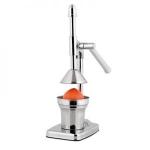 Exprimidor cítricos manual de metal Kitchen-Artist MEN75M - Exprimidor de naranjas o cítricos manual en acero inoxidable de calidad Kitchen-Artist. Ecológico, no requiere electricidad. Palanca rotativa para exprimir cítricos - naranja, limón, pomelo.. sin esfuerzo. Control del contenido de la pulpa, el jugo cae directamente en el recipiente. Fácil de limpiar. Apto para lavavajillas. Base antideslizante. Dimensiones: 35,5x18x13 cm. Peso: 1,85 Kg.
