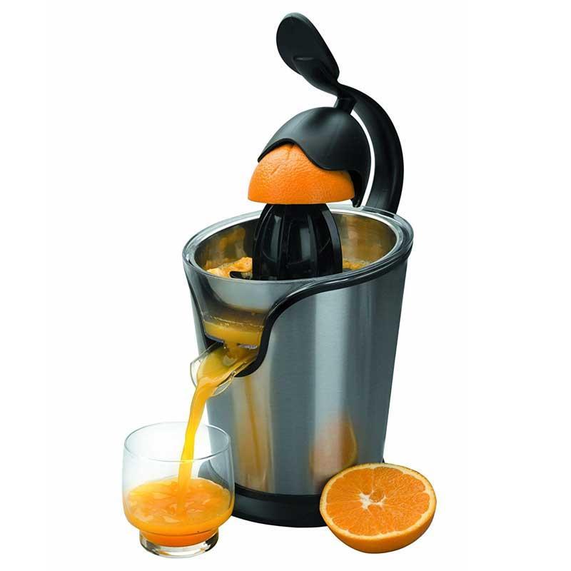 Exprimidor naranjas con brazo Lacor 69285 - 100w - Exprimidor de naranjas eléctrico con palanca Lacor 69285 diseñado para facilitarte la vida. Con estos económicos exprimidores de brazo de diseño moderno, podrá exprimir sin esfuerzo frutas y servir deliciosos zumos de naranja y otros cítricos. Con motor de 100 w y cuerpo de acero inoxidable 18-10. Arranque - parado automático al presionar el cono. Boquilla de salida de zumo anti-goteo para evitar salpicaduras. Totalmente desmontable para una fácil limpieza y apto para lavavajillas.- Ver Detalles -.