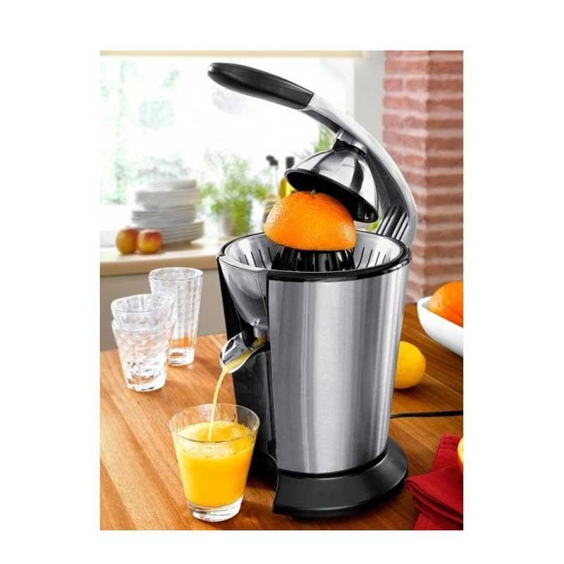 Exprimidor de naranjas con palanca - 120w - Exprimidor de naranjas y cítricos eléctrico con brazo, fabricado con alta calidad y alto rendimiento. Diseñado para facilitarte la vida, con estos exprimidores de diseño moderno, podrás exprimir frutas y servir deliciosos zumos. Exprimidores de palanca de calidad y rendimiento elevado con motor de 120w y cuerpo de acero inoxidable 18-10. Arranque, parado automático al presionar el cono. Boquilla de salida de zumo de acero inoxidable, anti-goteo para evitar salpicaduras. Totalmente desmontable para una fácil limpieza y apto para lavavajillas.- Ver Detalles -