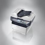 """Multifunción Laser b/n KYOCERA FS-1135 MFP - Copiadora, Impresora, escaner color y fax en una multifunción profesional y compacta. Velocidad: 35 pág./min. A4. Tiempo de primera copia de 6,9 segundos. Funcion Duplex (doble cara) de serie. Incluye Alimentador de 50 originales (RADF) a doble cara  DP-120. Capacidad de papel de hasta 800 hojas con 2 depósitos de papel opcionales. Impresión y escaneo a memoria USB. Elevados estándares de seguridad con SSL, IPsec e Impresión Privada (Requiere memoria adicional). Modo """"Apagado"""" automático que reduce al mínimo los consumos de energía. Interfaz estándar: USB 2.0 ( Hi-Speed), ranura USB, Fast Ethernet 10/100 Base-Tx. Componentes de larga duración reducen costes de impresion y su RADF aumentan su productividad. Toner TK-1140 incluido para 7200 copias / impresiones. Volumen de trabajo máximo: 20.000 cop./imp. mes."""