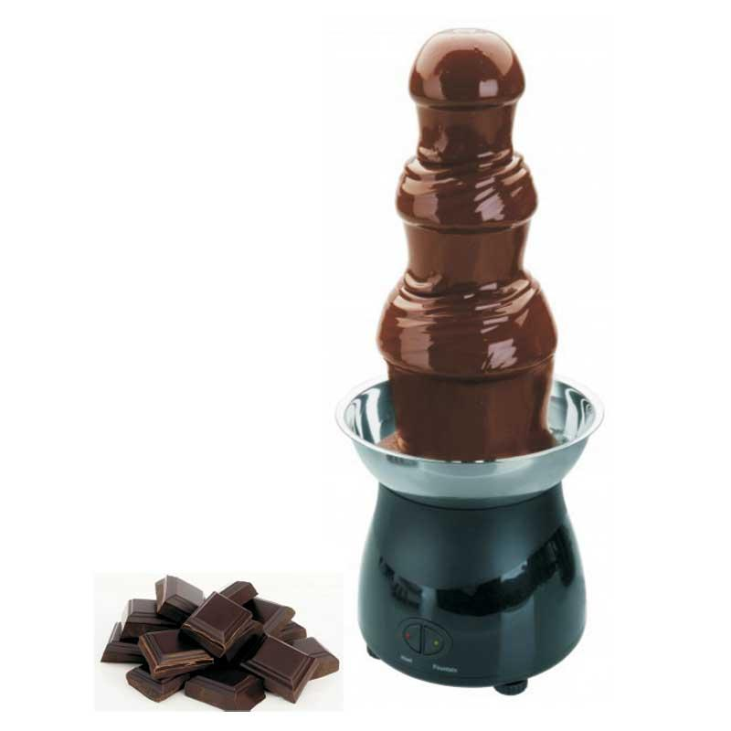Fuente de chocolate Lacor 69319 - 1,8 litros - 38cm - Fuente para chocolate caliente fondue de 1,8 litros de la marca Lacor. Estas fuentes de chocolate eléctricas le permitirán crear una cascada de chocolate fundido y mantenerlo caliente. La parte superior está formada por una bandeja de acero inoxidable donde se apoya la torre de tres niveles. Fuente de chocolate ideal para celebraciones, eventos, bodas, comuniones. Base antideslizante. - Capacidad: 1 kg de chocolate. - Capacidad Máxima: 1,8 litros. - Temperatura: 40-50ºC. - Altura Torre: 38 cm. - Peso: 2,83 kg. - Tamaño total: 23x23x54,5 cm. - Alimentación eléctrica: 220-240v, 50-60hz, 220w. - Ver Detalles - +( ENVÍO GRATIS ).