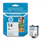 Cartucho Inyección Tinta Color HP 14 - Cartucho Tinta Color HP14. Tinta para impresoras, multifunción: HP Color Inkjet Printer 1160 / Officejet 7100 SERIES / D100 SERIES ...