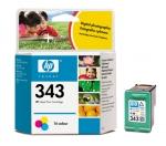 Cartucho Inyección Tinta Color HP 343 - Cartucho Tinta Color HP 343. Tinta para impresoras, multifunción: HP Deskjet 460c / 5740 / Officejet 6205 / Photosmart 2570 / PSC1507 ...