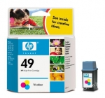 Cartucho Inyección Tinta Color HP 49 - Cartucho Tinta Color HP49. Tinta para impresoras: HP Deskjet 350c/cbi / 600 / Deskwriter 600 / Officejet 500 / 625 / APOLLO P-2 100 ...