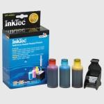 Kit Recarga tinta para cartuchos color HP300 - HP901 - 25 ml x 3 - Kit Recarga tinta color para usar en las impresoras multifunción HP: DeskJet D1660 - D2530 - D2660 - D5560 - F2410 - F4224 - FF4480 - F4580 . Equivalente a 4-10  rellenados. Contenido: Tres botellas de 25ml de tinta ( 1 por color: cian, magenta y amarillo ). Tres juegos de herramientas completos para realizar la recarga de los 3 cartuchos de color. Manual de instrucciones en varios idiomas. - Ver Detalles -