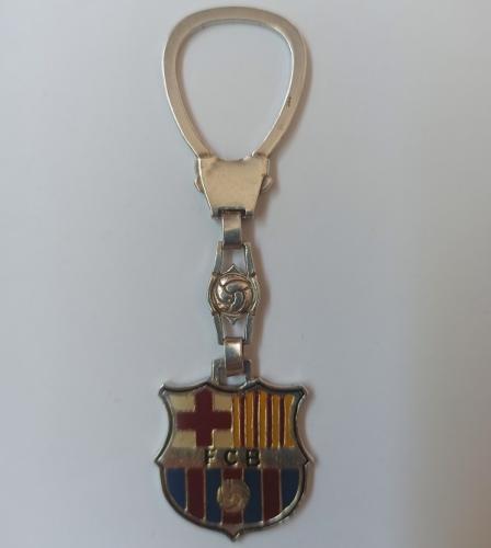 Llavero Vintage de Plata de Ley del Barcelona Club de Fútbol