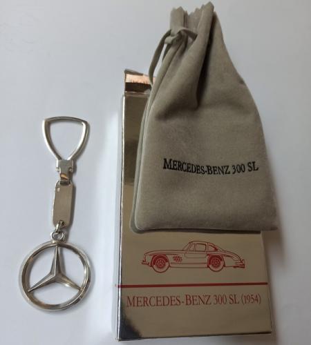 Llavero Vintage de Plata de Ley de Mercedes Benz c/caja