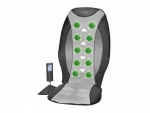 Asiento de masaje Shiatsu AEG MM5634 - Asiento AEG con masaje Shiatsu para su bienestar y alivio de dolores. 3 zonas de masaje ( completo, espalda superior o inferior). Nudos integrados para una estimulación mejorada de la zona de las vértebras de la espalda y lumbares. Adecuado para uso tumbado o sentado. Masaje vibratorio ( desconecta ). Función de temporizador (hasta 25 minutos). Cubierta protectora de la espalda. Aplicación variable con el adaptador de 12 V. Incluye mando a distancia con pantalla LCD multifunción. Adaptador de 230 V. Incluye bolsa para guardar el mando a distancia. AC: 230 V, 50 Hz, 12 V. Consumo: 24W max.