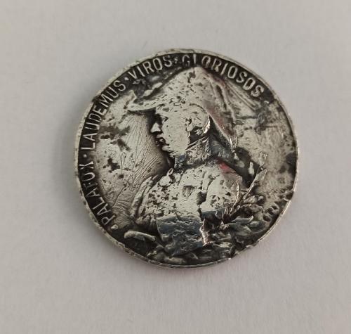 Medalla plata General PALAFOX Guerra de Independencia 1808-1908