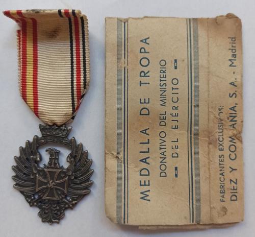 Medalla Militar Campaña de Rusia 1941 División Azul 2ª GM - WW2 Blue Division.