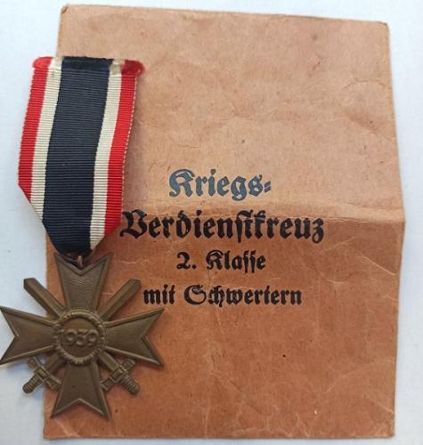 Cruz al Mérito Militar con espadas,  División Azul 2ª GM - WW2 Blue Division.