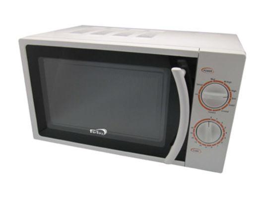 Microondas Grill Fersay MC02015 - 20 litros - Sencillo y práctico horno microondas de sobremesa con capacidad de 20 litros, tiene una potencia de 700W y grill de 500W. Podrás preparar los alimentos de una forma rápida y saludable, siendo ideal para calentar, gratinar y descongelar. Microondas Grill compacto, para un espacio pequeño. Los 30 minutos de su temporizador son más que suficientes para realizar cualquier descongelación o cocción. Programador mecánico para mayor facilidad de uso. Cuenta con 9 niveles de potencia, 3 programas combinados, señal acústica de final de programa. Cavidad interior blanca. Incluye plato y rejilla.  - Diámetro plato de cristal: 255 mm. - Voltaje AC: 230 V. - Potencia microondas: 700 W. - Potencia grill: 500 W. - Dimensiones: 26,2 x 45,2 x 33,5 cm - Peso: 12,5 kg. - Garantía: 2 Años. + Todos los repuestos de este microondas estan disponibles.