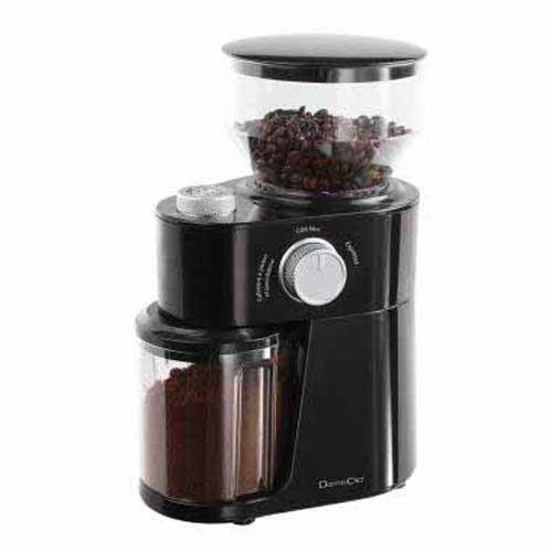Molinillo de café eléctrico Domoclip DOD158 - 200w - Molinillos de café eléctricos con potente motor de 200 W. Muele la cantidad correcta de los granos de café gracias al selector de tazas. El molinillo eléctrico permite moler continuamente y a varios tamaños. 3 niveles de molienda: fino ( expreso ), café de filtro, grueso ( cafetera francesa y eléctrica ), para que se ajuste al método de elaboración: moka, expresso, goteo, ideal para los amantes del buen café al permitirles apreciar todo el aroma y sabor. Recipiente para los granos de café transparente con tapadera hermética para mejor conservación del aroma y mayor higiene, con capacidad para 250 gr. Molinillo para granos de café con Sistema de bloqueo de seguridad - solo funciona con la tapadera puesta -. Desactivación automática. Cuchillas de acero inoxidable. Arrollamiento del cable. + Características técnicas: - 3 niveles de molienda. - Selector de tazas: hasta 14 tazas. - Peso bruto: 1,66 Kg. - Dimensiones: 18,5 x 13 x 16,5 cm. - Color: Negro. - Alimentación eléctrica AC: 220-240 V, 50-60 Hz. - Potencia: 200 W.